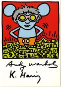 KEITH HARING & ANDY WARHOL - Andy Mouse III, Homage to Warhol - Color offset lithograph
