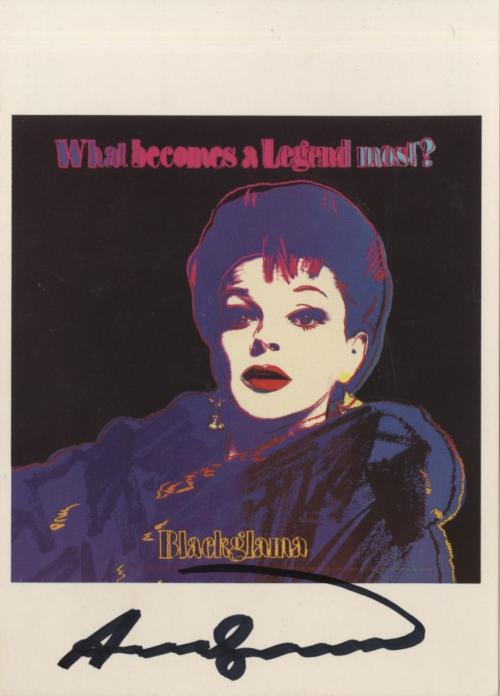 ANDY WARHOL - Blackglama (Judy Garland) - Color offset lithograph