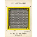 ROY LICHTENSTEIN - Stretcher Frame - Original color silkscreen