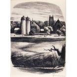 BENTON MURDOCH SPRUANCE - Newtown Towers - Lithograph