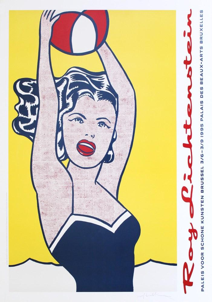 ROY LICHTENSTEIN - Girl with Ball - Color silkscreen