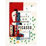 PABLO PICASSO - Suite de 180 dessins de Picasso - Color lithograph