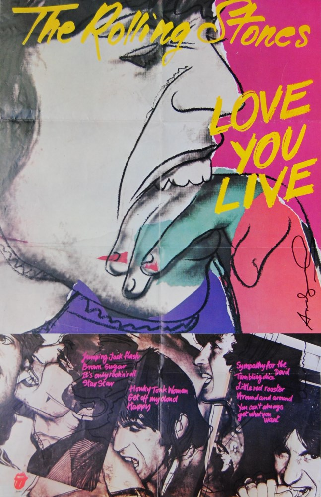 ANDY WARHOL - Love You Live - Original color offset lithograph