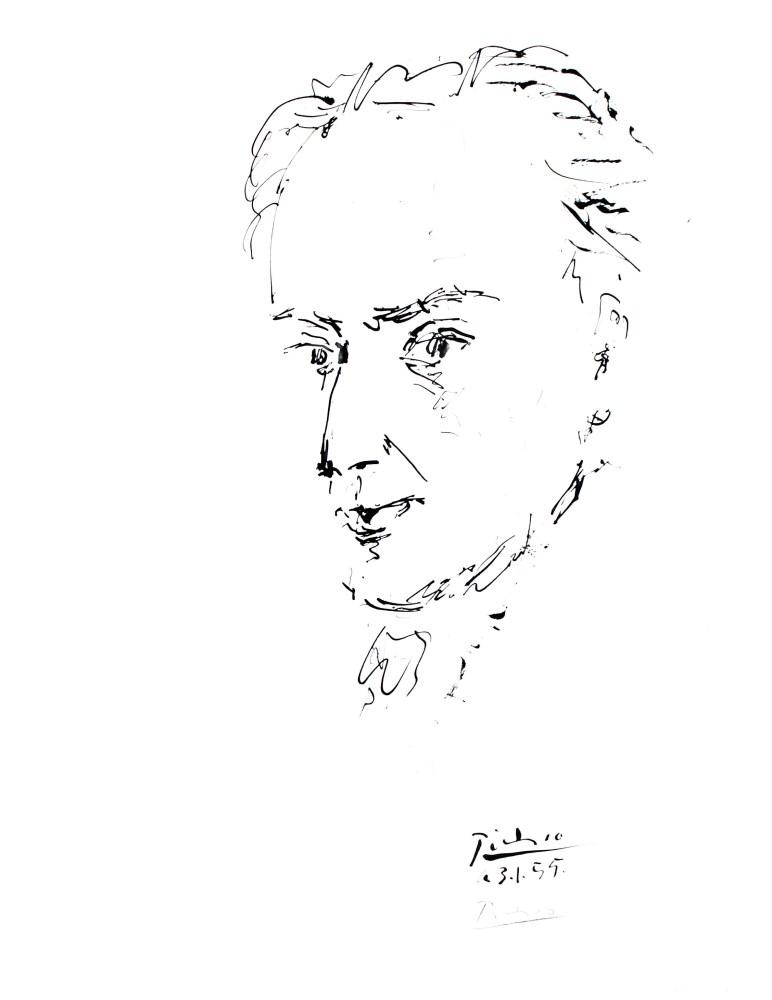 PABLO PICASSO - Hommage des artistes Espagnols au poete Antonio Machado - Offset lithograph