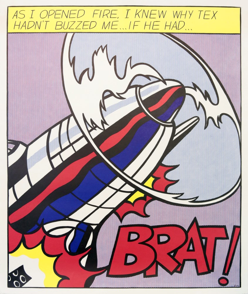 ROY LICHTENSTEIN - As I Opened Fire [lifetime impressions] - Original color offset lithograph [3 ...