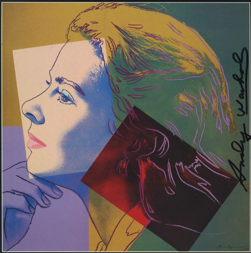 ANDY WARHOL - Ingrid Bergman: Herself (04) - Color offset lithograph