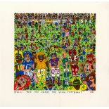 JAMES RIZZI - Are You Ready for Some Football? - Color silkscreen and lithograph