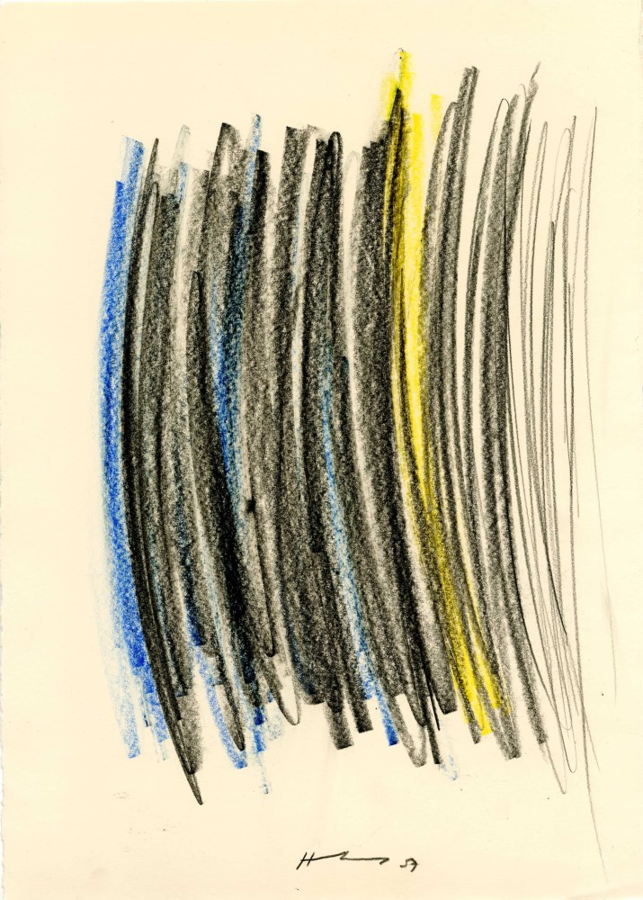 HANS HARTUNG - Composition - Crayon drawing on paper