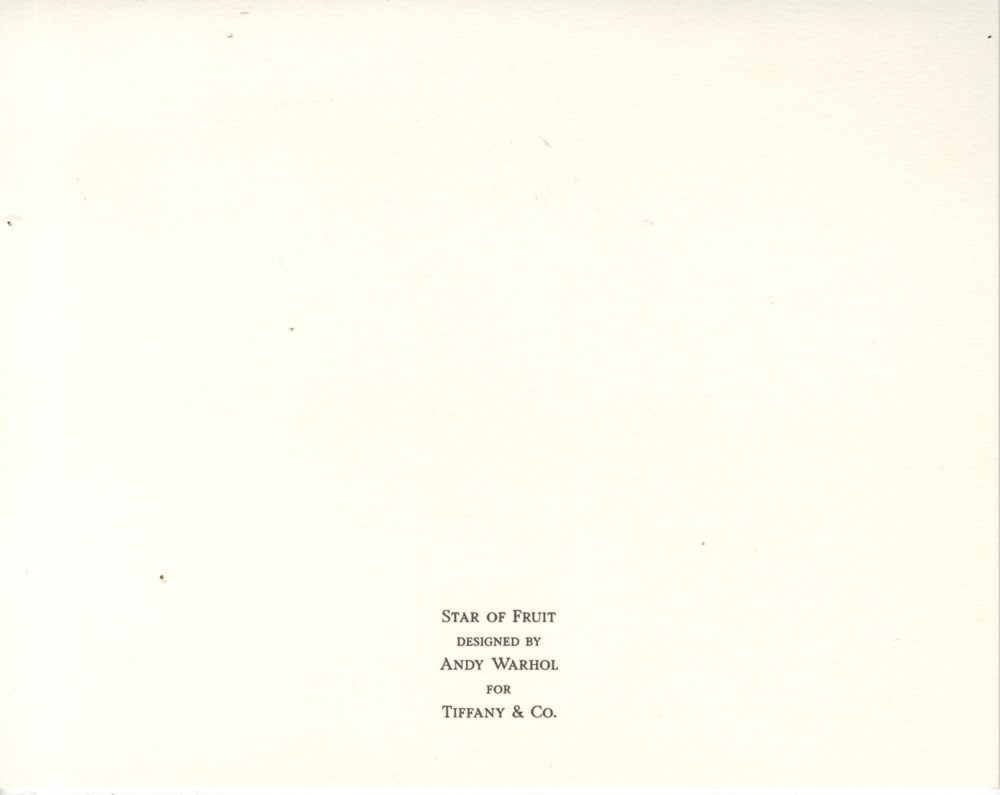 ANDY WARHOL - Christmas Card: Star of Fruit - Original vintage color offset lithograph - Image 2 of 3