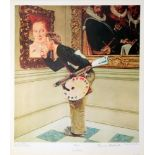 NORMAN ROCKWELL - The Critic - Original color collotype