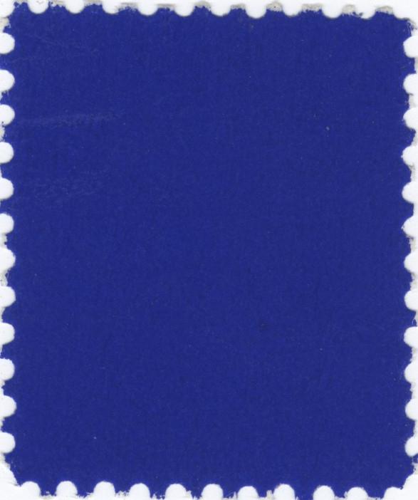 YVES KLEIN - Timbre bleu - IKB pigment on postage stamp