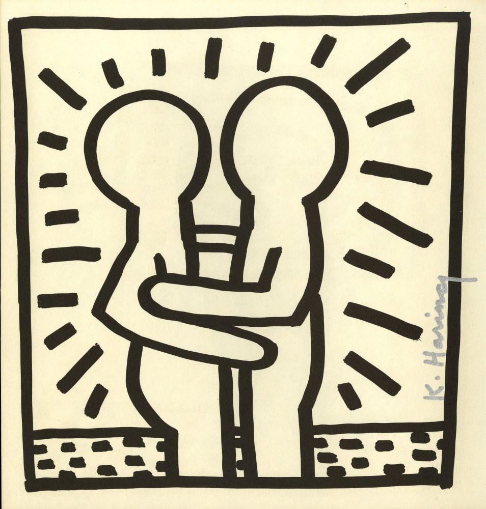 KEITH HARING - Embrace - Lithograph