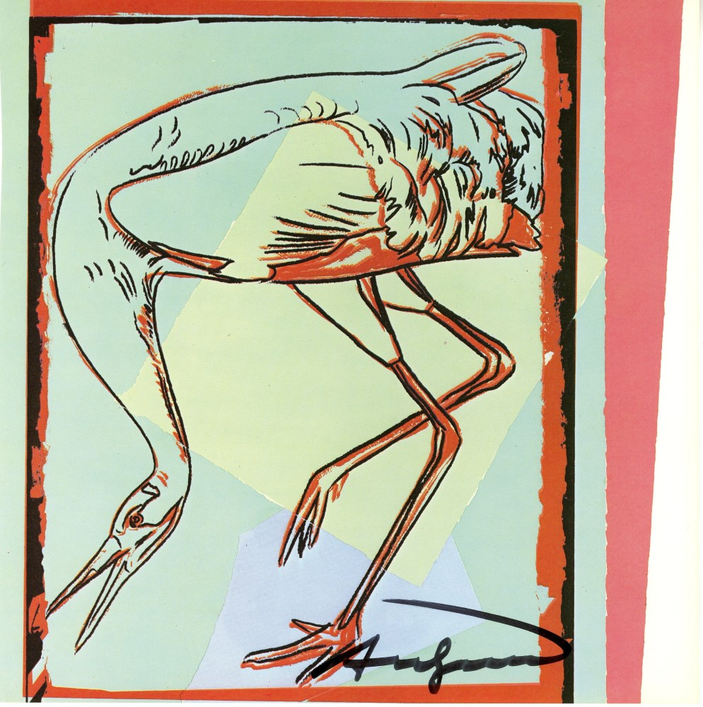 ANDY WARHOL - Whooping Crane - Color offset lithograph