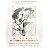 PABLO PICASSO - Dessins et Gravures de Maitres Contemporains - Color letterpress and collotype