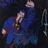 ANDY WARHOL - Superman - Color offset lithograph