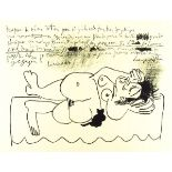 PABLO PICASSO - Hommage a Georges Braque - Lithograph