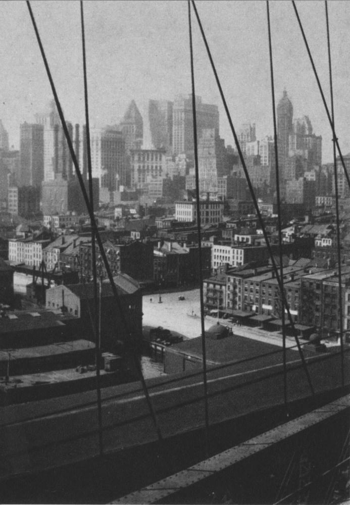 WALKER EVANS - Manhattan Skyline from Brooklyn Bridge - Original photogravure