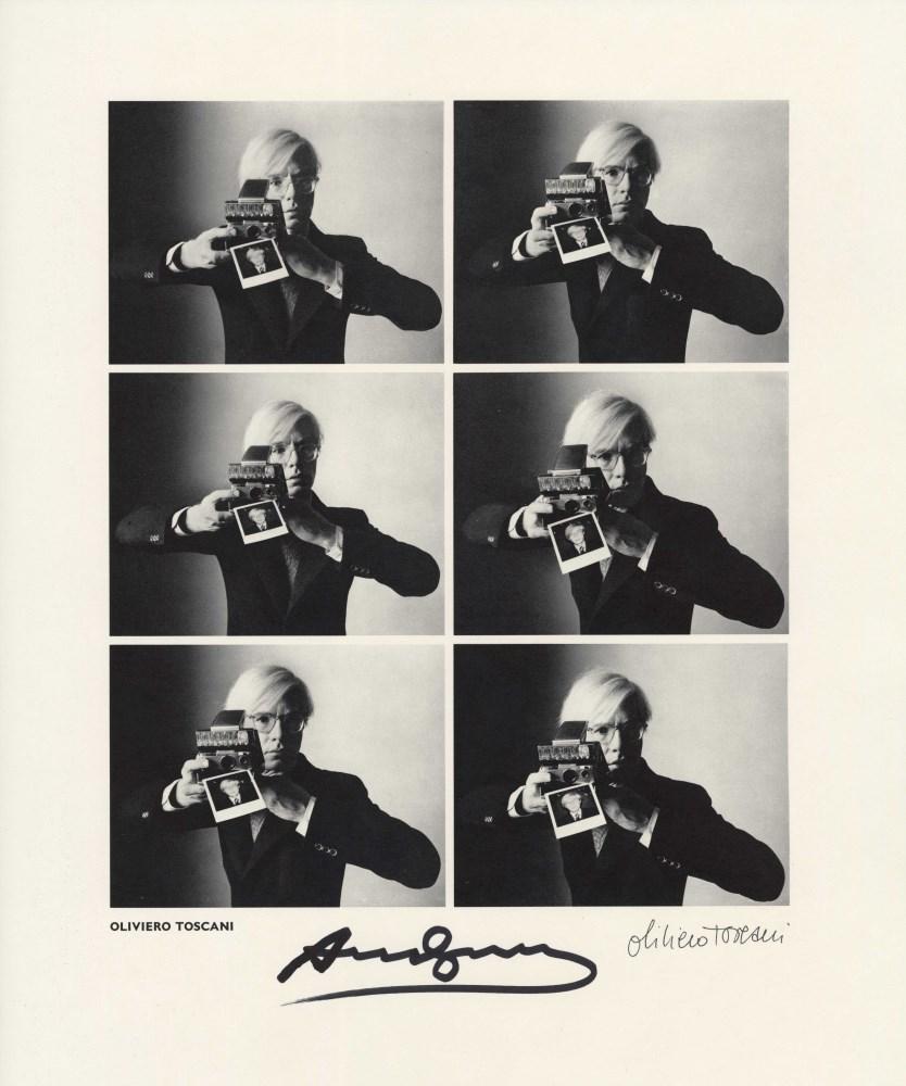 OLIVIERO TOSCANI - Andy Warhol, Carnegie Hall Studio, New York City - Vintage photogravure