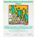 KEITH HARING - The Great Peace March - Color offset lithograph