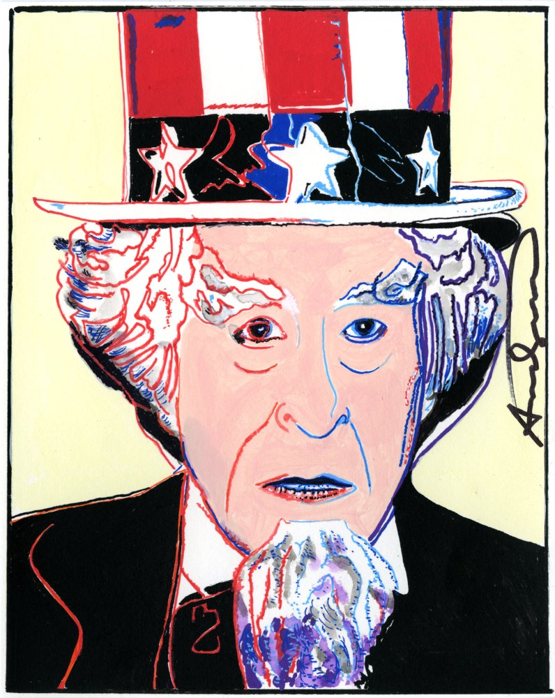 ANDY WARHOL - Uncle Sam - Gouache and watercolor on paper