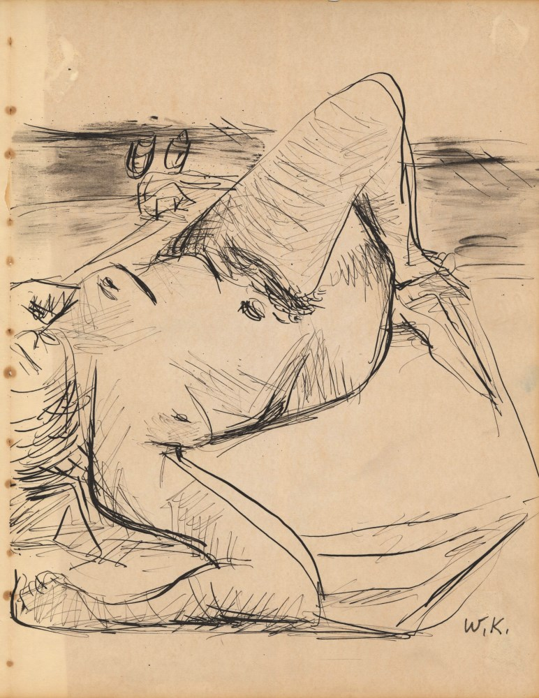 WILLEM DE KOONING - Female Nude - Pen and ink and wash drawing on paper - Image 2 of 3