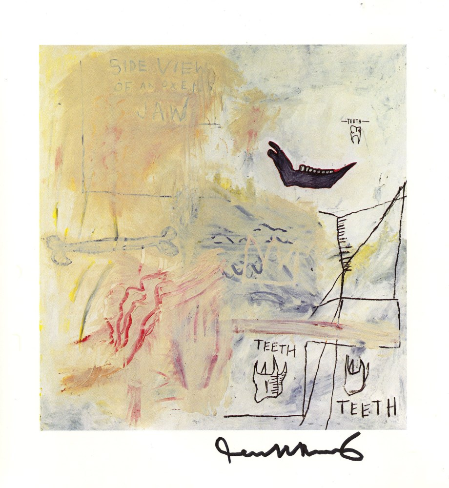 JEAN-MICHEL BASQUIAT - Side View of an Oxen's Jaw - Color offset lithograph