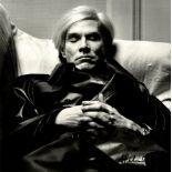 HELMUT NEWTON - Andy Warhol, Sleeping - Original photolithograph