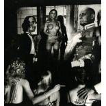 HELMUT NEWTON - Hugh Hefner's Projection Room, Beverly Hills - Original vintage photolithograph