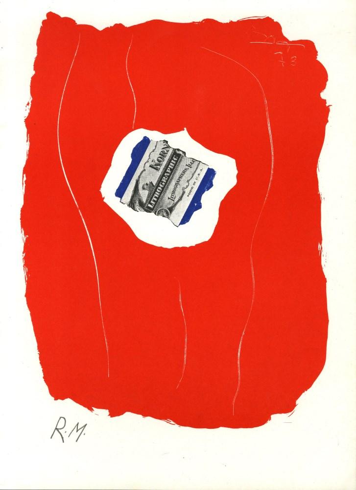 ROBERT MOTHERWELL - Tricolor - Original color lithograph