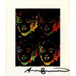 ANDY WARHOL - Four Multicolored Marilyns #3 - Color offset lithograph