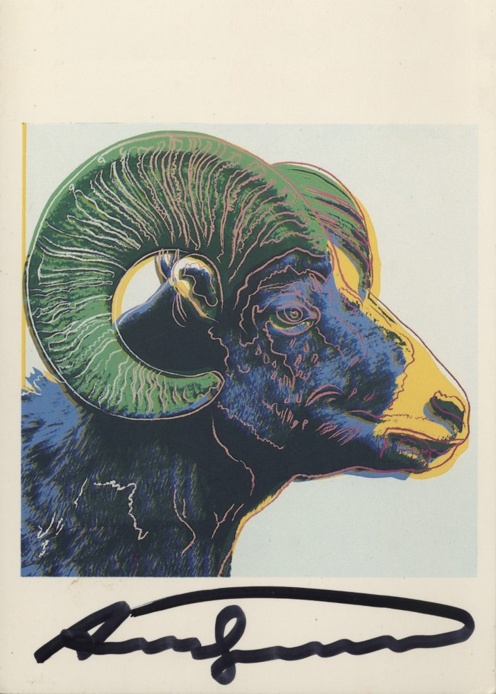 ANDY WARHOL - Bighorn Ram - Color offset lithograph
