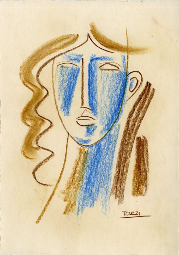 MARIO TOZZI - Studio per Testina - Pastel on paper