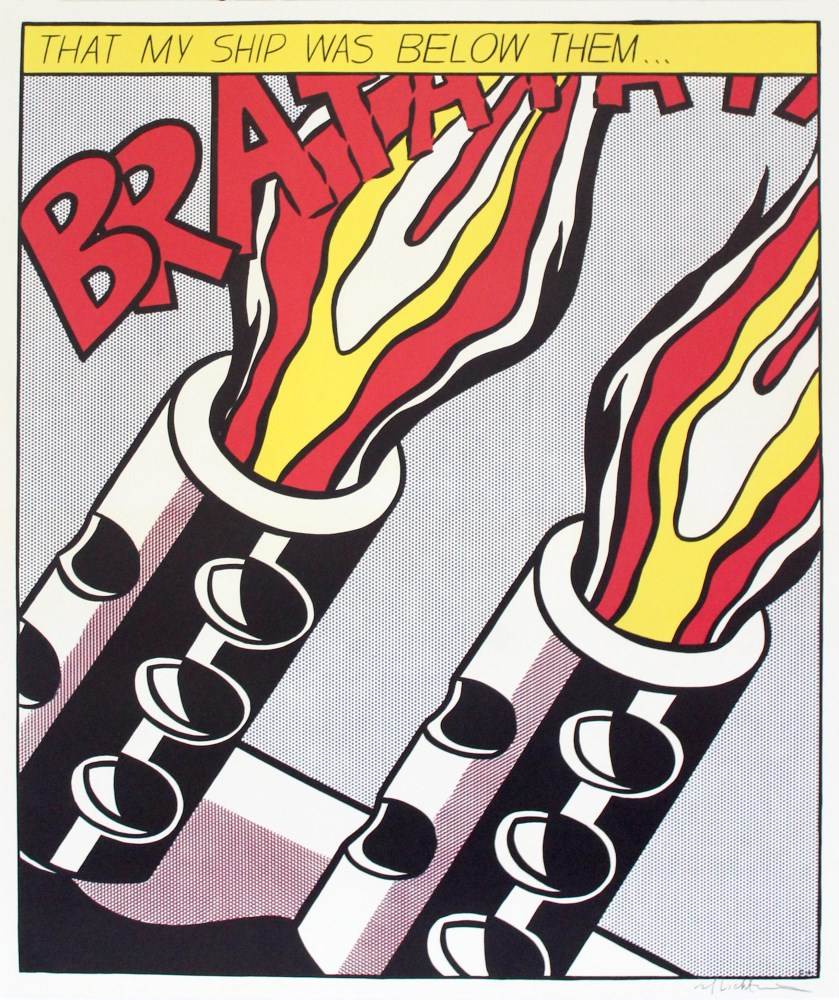 ROY LICHTENSTEIN - As I Opened Fire [lifetime impressions] - Original color offset lithograph [3 ... - Image 3 of 10