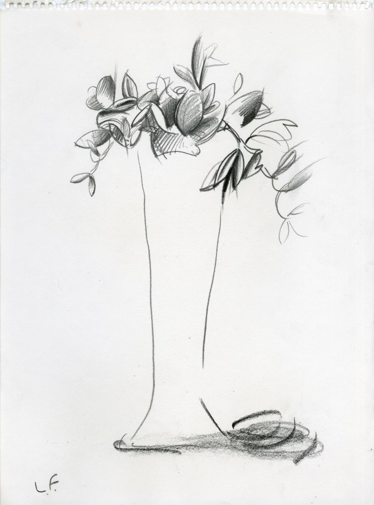 LUCIAN FREUD - Bouquet - Pencil drawing on paper
