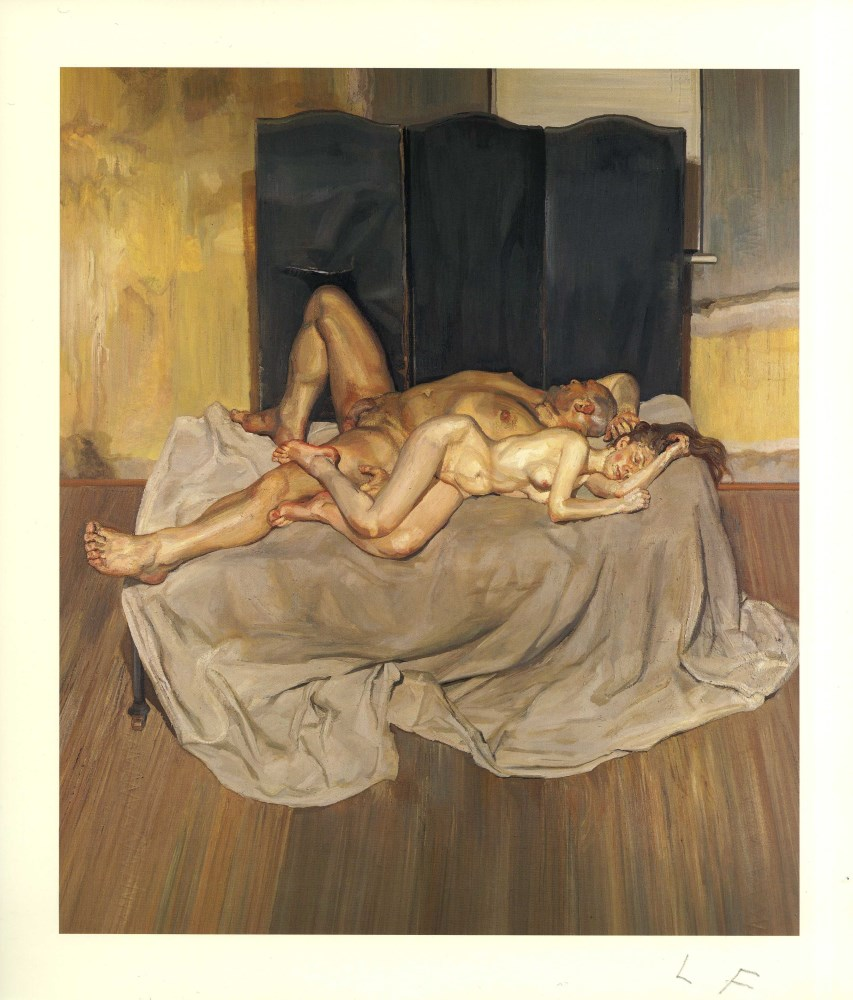 LUCIAN FREUD - And the Bridegroom - Color offset lithograph