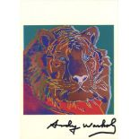 ANDY WARHOL - Siberian Tiger - Color offset lithograph