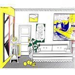 ROY LICHTENSTEIN - Artist's Studio - Look Mickey - Color offset lithograph