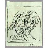 EMIL FILLA - Zeny hlavu doprava (Woman's Head to the Right) - Pencil drawing