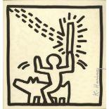 KEITH HARING - Man Riding Dog - Lithograph
