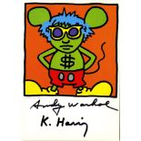 KEITH HARING & ANDY WARHOL - Andy Mouse I, Homage to Warhol - Color offset lithograph
