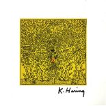KEITH HARING - Red X - Color offset lithograph