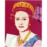 ANDY WARHOL - Queen Elizabeth II (#3) - Color offset lithograph