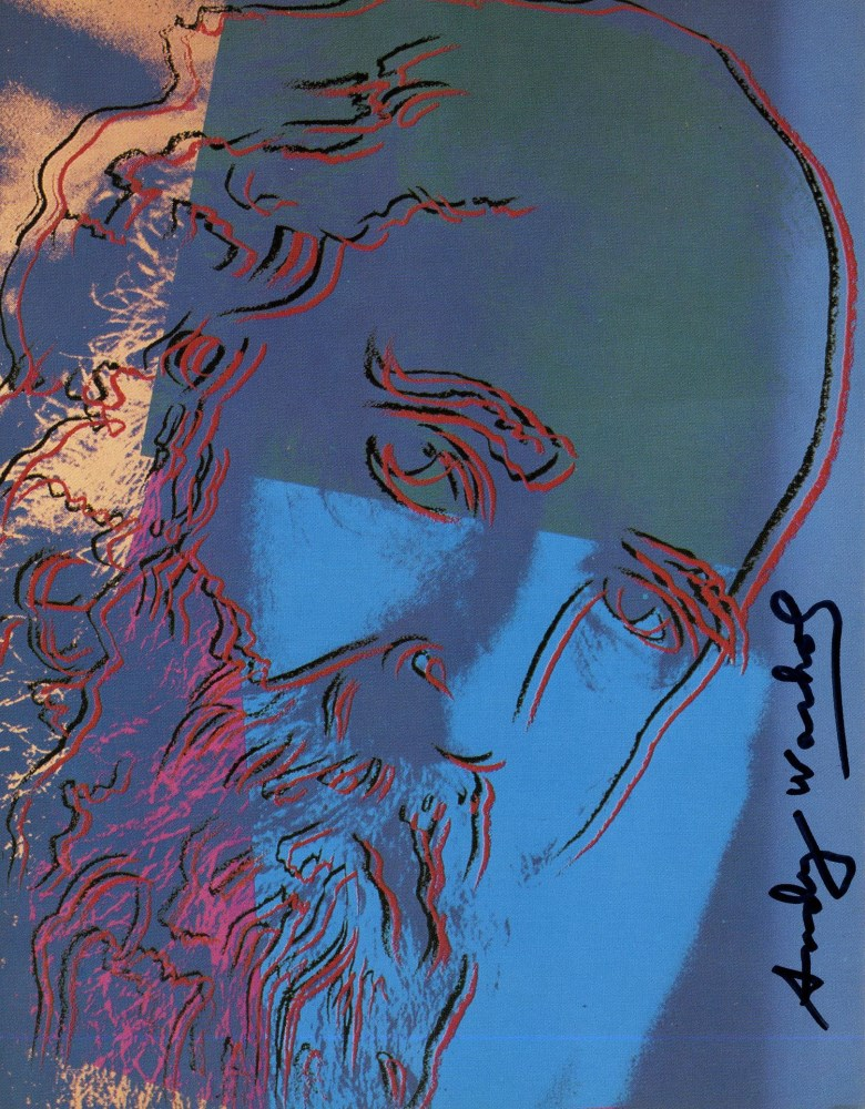 ANDY WARHOL - Martin Buber - Color offset lithograph