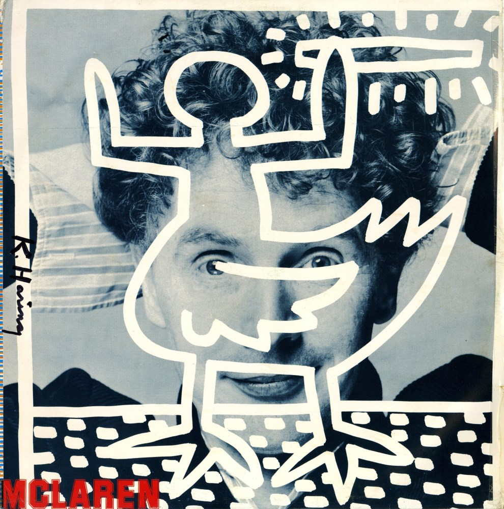 KEITH HARING - Malcolm McLaren: Duck for the Oyster - Original color offset lithograph with vinyl...
