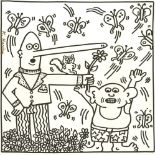KEITH HARING - Nine Butterflies - Lithograph