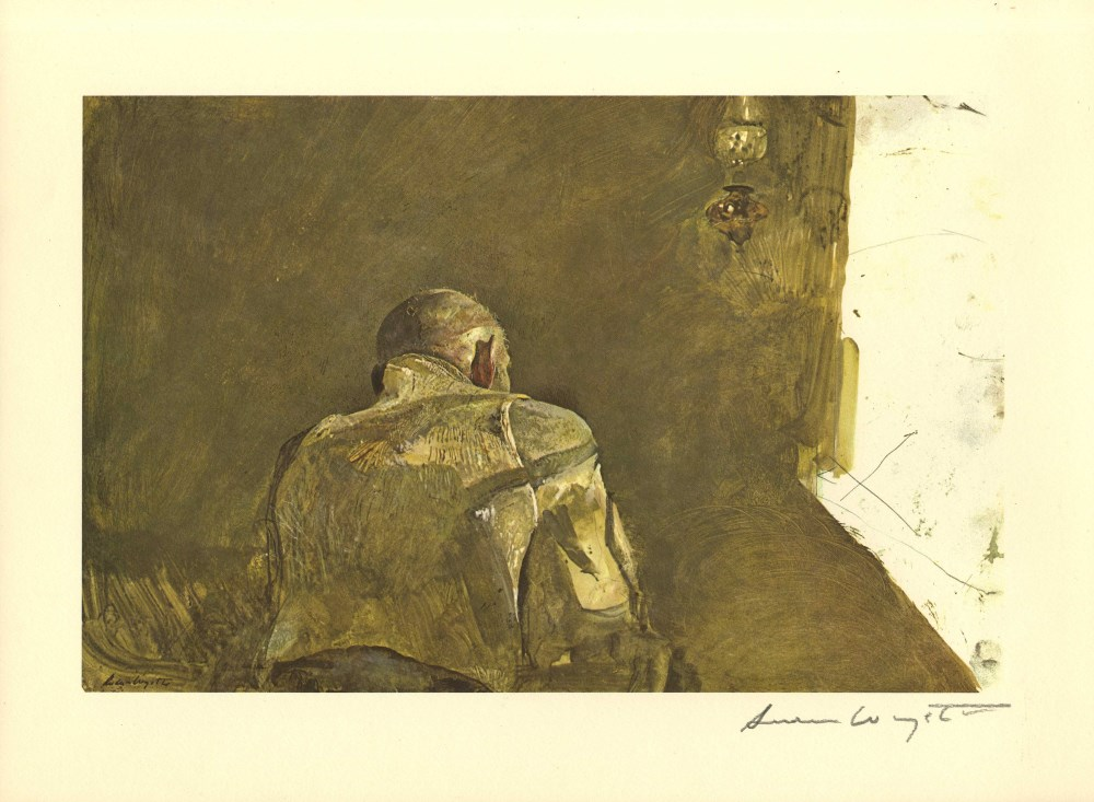 ANDREW WYETH - Spring Sun - Color offset lithograph