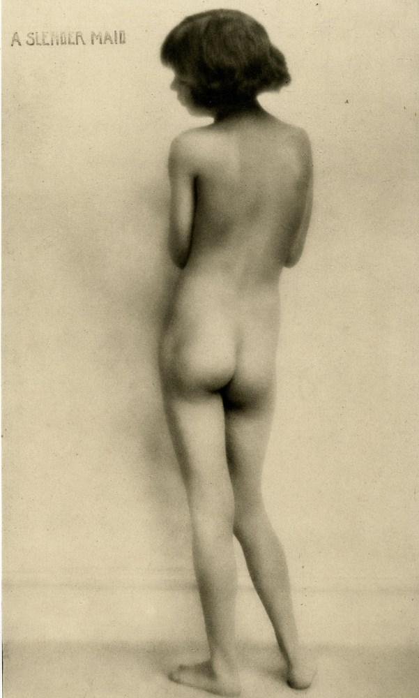 A. KEITH DANNATT - A Slender Nude Maiden - Original vintage photogravure