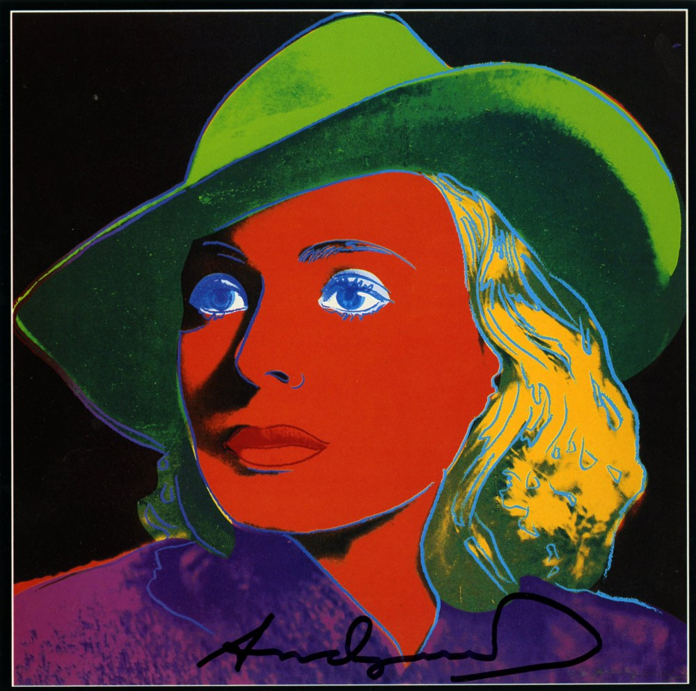 ANDY WARHOL - Ingrid Bergman: With Hat (03) - Color offset lithograph