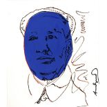 ANDY WARHOL [imputee] - Mao - Watercolor and pencil drawing on paper