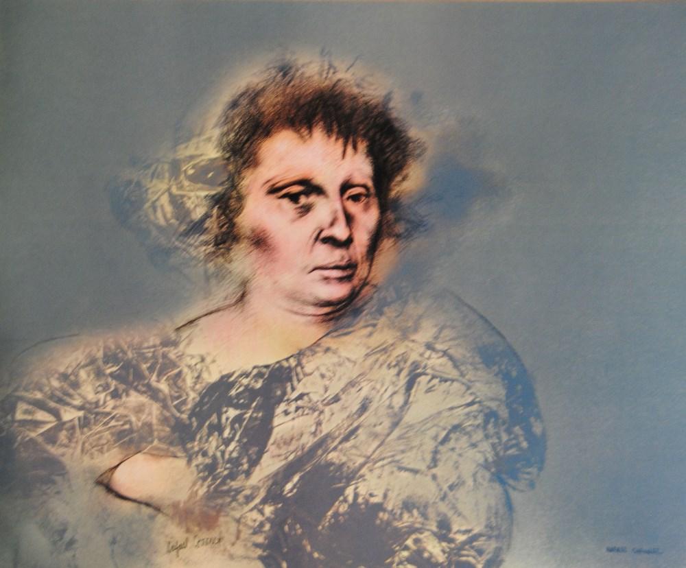 RAFAEL CORONEL - Dama para Rubens - Color offset lithograph